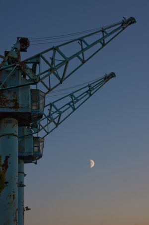 Moon Rise on Salford Quays